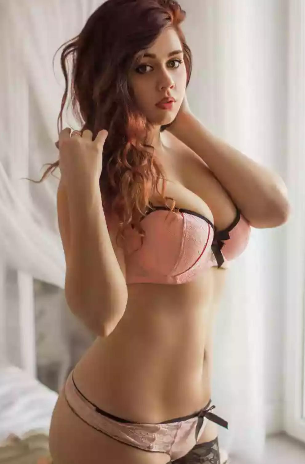 Girl in stylish bra