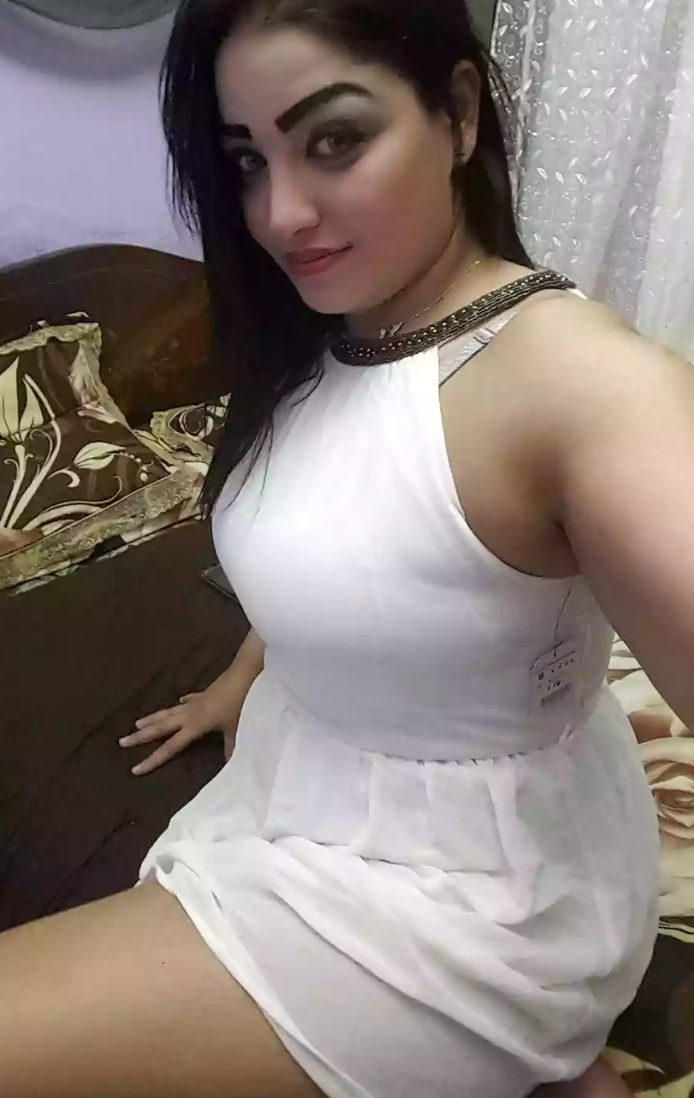 Pretty hot girl taking selfie